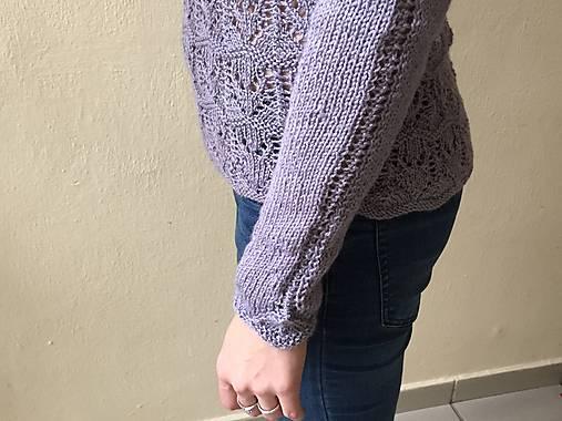 0ea62ac9a99e Dámsky pulóver s čipkovým vzorom   ebarath - SAShE.sk - Handmade ...