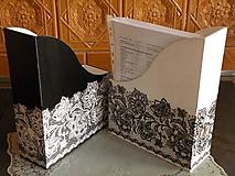 Krabičky - Sada(2kusy) romantických pořadačů - krajka - 10034900_