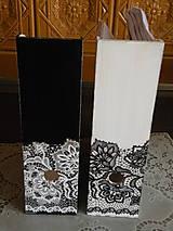 Krabičky - Sada(2kusy) romantických pořadačů - krajka - 10034902_