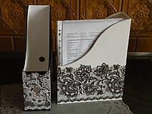 Krabičky - Sada(2kusy) romantických pořadačů - krajka - 10034907_
