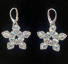 Náušnice - Star clear - 10035423_