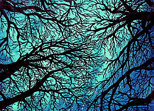 Grafika - Aurora Borealis - Malý art print - tlač - 10034793_