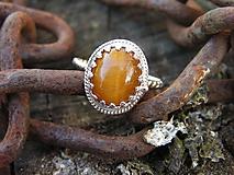 Prstene - Strieborny prsteň Ag 925 Tigrie oko - 10033348_