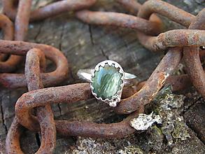 Prstene - Strieborny prsteň Ag 925 Serafinit - 10033340_