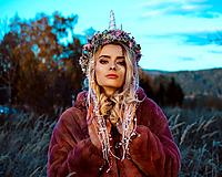 Ozdoby do vlasov - Kvetinový venček Jednorožec Halloween - 10032744_