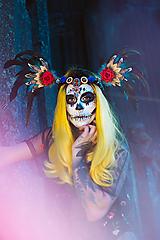 Ozdoby do vlasov - Dramatická čelenka Halloweenska kolekcia - 10032753_