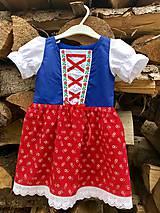 Detské oblečenie - Detské folklórne šaty Žofka - 10035891_
