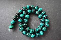 Minerály - Tigrie oko farbené / 1ks - 10mm (Zelená) - 10034996_