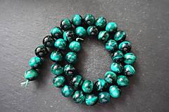 Minerály - Tigrie oko farbené / 1ks - 10mm (Zelená) - 10034998_