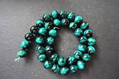 Minerály - Tigrie oko farbené / 1ks - 10mm (Zelená) - 10034999_