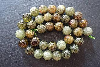 Minerály - Granát zelený 6-8-11mm - 10033471_