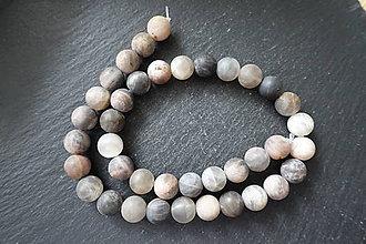 Minerály - Slnečný kameň tmavý matný 10mm - 10033633_
