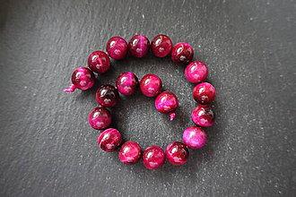 Minerály - Tigrie oko farbené č.-z.-m. / 18ks - 11mm (Ružová) - 10034494_