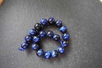 Minerály - Tigrie oko farbené č.-z.-m. / 18ks - 11mm (Modrá) - 10034511_