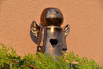 Svietidlá a sviečky - Anjelik - aromalampa (so srdiečkom) - 10032780_