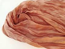 """Šály - """"rose brown"""" hodvábny šál (pléd, štóla) SKLADOM:-) - 10034065_"""