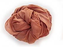 """Šály - """"rose brown"""" hodvábny šál (pléd, štóla) SKLADOM:-) - 10034066_"""