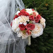 Kytice pre nevestu - svadobná kytica..zo srdca - 10032888_