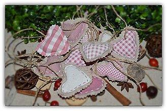 Dekorácie - Srdiečko na stromček- vidiecke a romantické - 10039789_