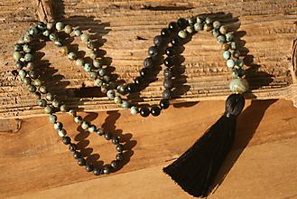 Náhrdelníky - Náhrdelník africký tyrkys, láva a onyx - 10037674_