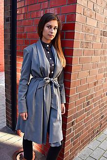 Kabáty - Šedý plášť CLAUDINE - 10036639_