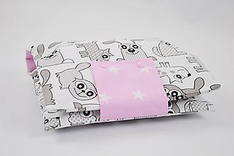 Detské doplnky - Obal na plienky sivo-bieli psíkovia s ružovou - 10038883_