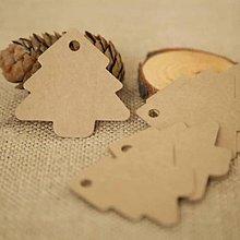 Papier - štítky, visačky- stromček - 10039454_