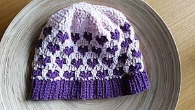 Detské čiapky - Srdiečkové šťastie - 10037131_
