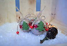 Dekorácie - Vianočná guľôčka - stromček - 10039708_