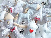 - Vianočné ozdoby všeličo-šedé (koník) - 10036812_