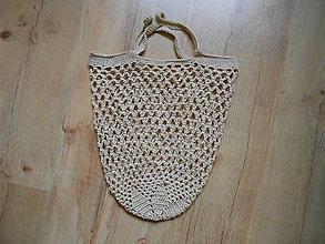 Nákupné tašky - Sieťovka béžová - 10036989_