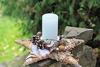 Dekorácie - Vianočný svietnik - 10038936_