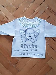 Detské oblečenie - Košieľka na krst - 10039780_