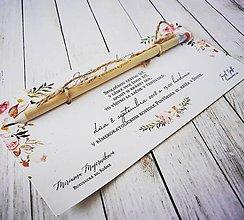 Darčeky pre svadobčanov - Svadobné oznámenie - 10038943_