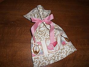 Úžitkový textil - Vianočné vrecko - 10037959_