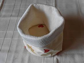 Úžitkový textil - Vianočný košíček - 10038048_