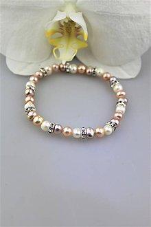 Náramky - perly viacfarebné náramok - 10039930_