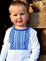 Detské oblečenie - Detské tričko s ľudovým motívom MYJAVA dlhý rukáv - 10038309_