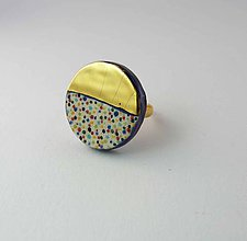 Prstene - Tana šperky - keramika/zlato - 10036253_