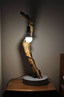 Svietidlá a sviečky - lampa z naplaveného dreva - 10038003_