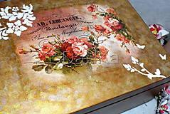 Krabičky - drevený maxi box  (Ruže) - 10038171_