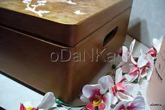 Krabičky - drevený maxi box  (Ruže) - 10038173_