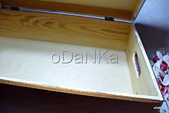 Krabičky - drevený maxi box  (Ruže) - 10038174_