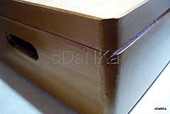 Krabičky - drevený maxi box  (Ruže) - 10038175_