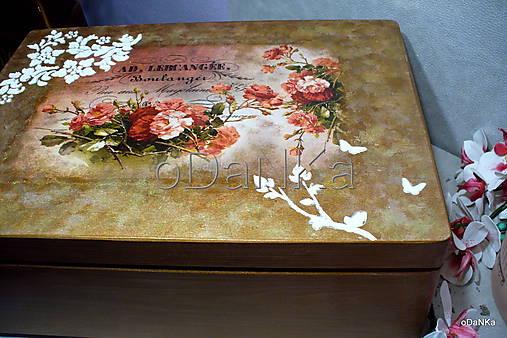 drevený maxi box  (Ruže)