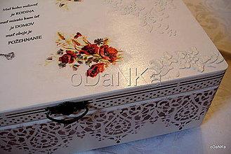 Krabičky - drevený maxi box  (Vlčie maky) - 10038126_