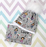 Detské čiapky - Setík pre malé princezné - 10038510_