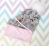 Detské čiapky - Setík pre malé princezné - 10038514_