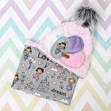 Detské čiapky - Setík pre malé princezné - 10038516_