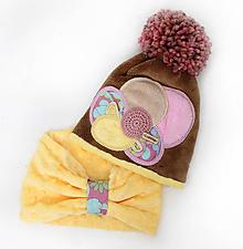 Detské čiapky - Jedinečný set s veľkým brmbolcom - 10038523_
